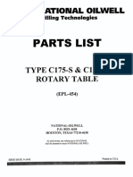 National C-175 Parts List