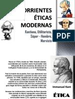 Corrientes Éticas Modernas