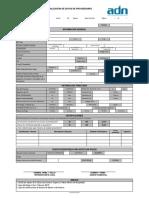 ADFMT001 1 Registro Información Proveedores
