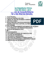 Orden Expediente Clinico NOM 004 SSA3 2012