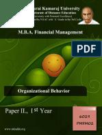 Pmfm02 Organizational Behavior