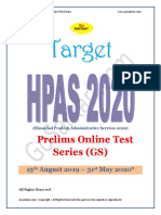 HPAS Prelims 2020 Test Series