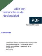optimización con restricción