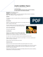 Alternative Medicine Papaya