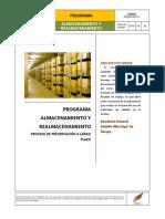 1.6 Programa de Almacenamiento y Realmacenamiento