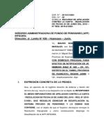 Recurso de Apelacion de Desafiliacion de La Afp Mauro Inocente Morales