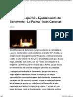 Batalla de Lepanto - Ayuntamiento de Barlovento · La Palma · Islas Canarias