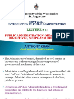 GOVT 1006 LECTURE #1 PUBLIC ADMINISTRATION MEANING, AIMS OBJECTIVES, SCOPE AND DIMENSION (2).pptx