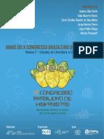 Anais Do X CBH Vol. 2