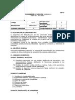 Programa de Estudios Estadística i