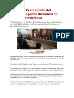 Comisión Permanente del Congreso aprobó dictamen de Ley de Ciberdefensa