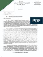 Bradley County Mayor Budget Veto Letter