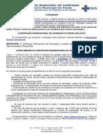 Cetificado Internacional de Vacinacao Ou Profilaxia CIVP