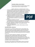 DESCRIPCION DE LA MATERIA PRIMA.docx