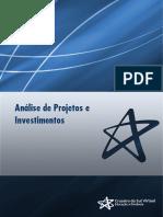 Análise de Projetos e Investimentos teorico 1