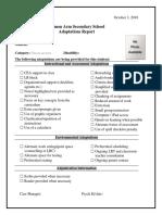 adaptations checklist - fillable no photo