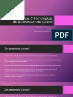 Características Criminológicas de La Delincuencia Juvenil