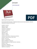Vocabulario de Psicologia Ingles Espanyol