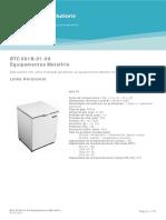 BTC 001B-01-09 Equipamentos Metalfrio