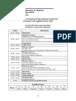 Schedule of ICSAS