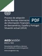 AICOGestion 002 Estado Adopcion NIIF Proceso de Adopcion de Las Normas Internacionales de Informacion Financiera en Iberoamerica Espana y Portugal