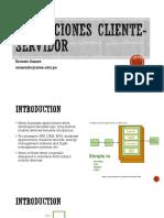 Aplicaciones Cliente Servidor