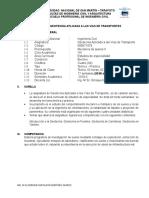 Syllabus de Geotecnia- 2018-II