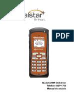QUALCOMM Globalstar Telefone GSP-1700 Manual Do Usuário