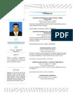 Curriculum Docente Matematicas y Fisica