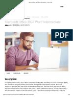 Microsoft Office 2007 Word Intermediate - Course Gate