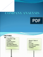 Company Analysis SAPM