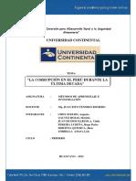 Corrupcion en El Peru - Gente Que Trabaja