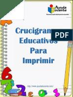 CRUCIGRAMAS EDUCATIVOS