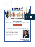 San Marco, TX - Meet the Speakers for the Hispanic Business Convention of Texas