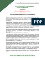 Ley de Procedimiento Administrativo de La Cdmx