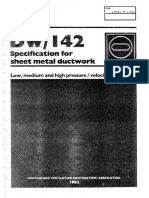 DW142 Specification for Sheet Metal Ductwork 1982
