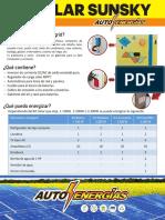 Flyer Kit Solares Autoenergías