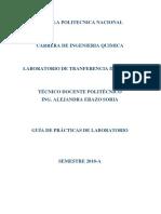 Guía de Prácticas de Laboratorio Masa II 2018A