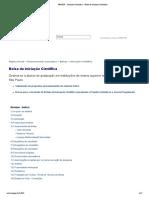 FAPESP IC Diretrizes