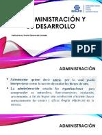 La Administración y Su Desarrollo 1-230719
