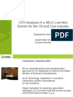 CFD Analysis of a MILD Low-Nox Burner for the Oil and Gas Industry