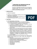 Bases Del Concurso de Presentacion de Articulos de Investigacion