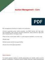 Corn Production Management