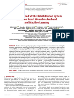 An IoT-Enabled Stroke Rehabilitation System Based on Smart Wearable Armband and Machine Learning