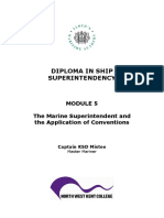 Paper Diploma in ship superintendency