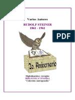 Testimonio de gratitud de sus discípulos, con motivo del primer centenario de su natalicio -Rudolf-Steiner