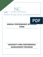 Annual Appraisal Form