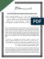Ayat Keutamaan Berjuang Dengan Harta & Jiwa