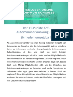 11 Punkte Anti Autoimmunerkrankungs Plan 2019