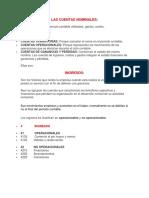 Las Cuentas Nominales ( Ingresos-gastos-costos) Rae 3
